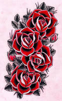4 roses by Kirzten