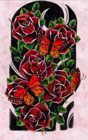 Roses + Butterflies by Kirzten