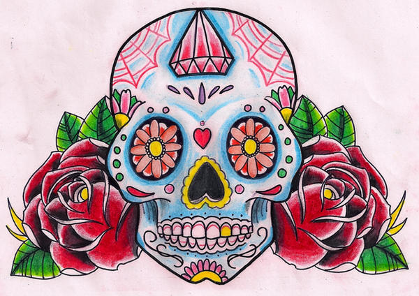 Sugar Skull Roses By Kirzten On DeviantArt
