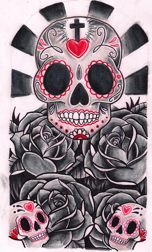 Skulls + Roses by Kirzten