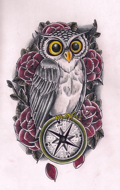 Owl Compass by Kirzten