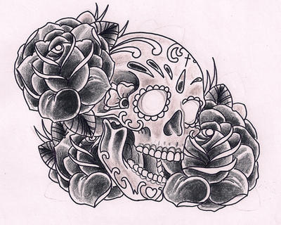 Sugarskull black by Kirzten on DeviantArt