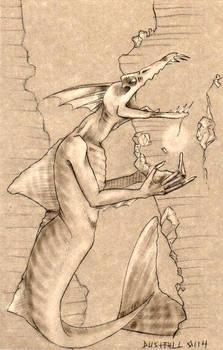 Imagined mermoid sketch II