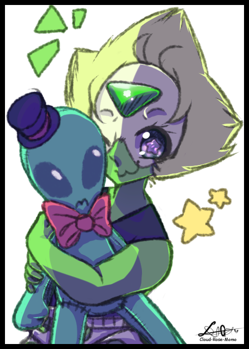 Ahh i love peridot and her alien! i hope you guys like! art ©  peridot - steven universe