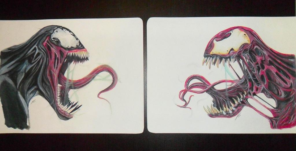 Venom Vs. Carnage Drawing by JairMB on DeviantArt