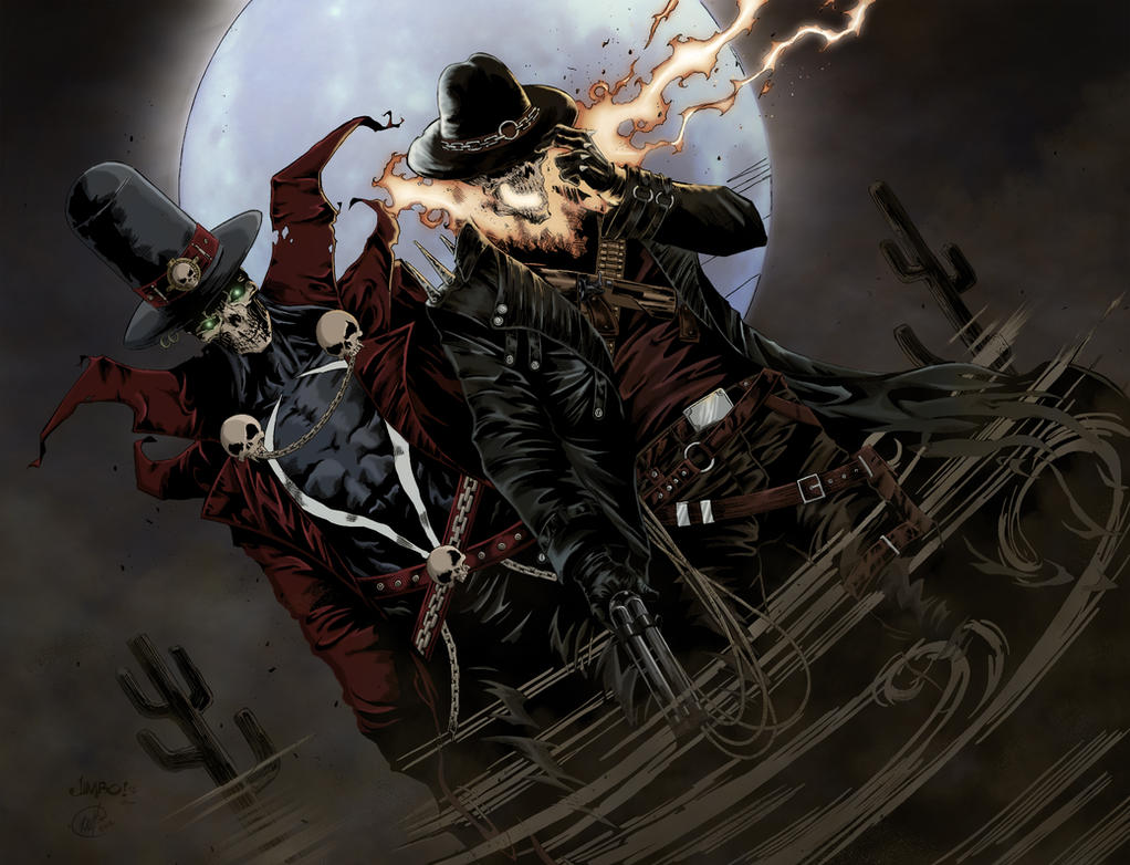 Gunslinger Spawn And Western Ghost Rider - Color by LMC2 ...