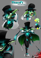 Thaed's Concept Art - Antagonists' Leader by Norebook