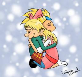 Arnold and Helga: Loving Embrace by BloodAngel28