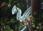 Metalic Alien-acrylic painting