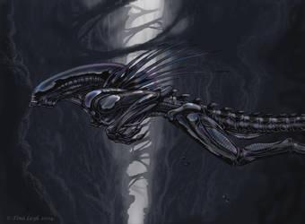 Leap Of Faith- Xeno art by jaxxblackfox