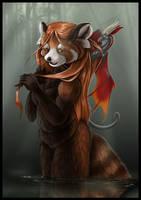 Navira the Red Panda by jaxxblackfox