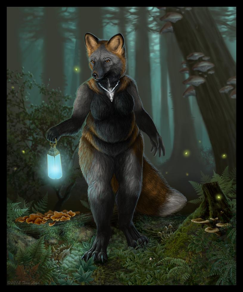 A Moonlit Stroll by jaxxblackfox