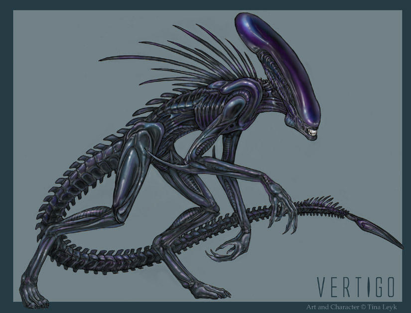 Xenomorph Female Vertigo- Xenomorph Fan Char by