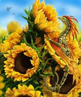 Sunflowers by jaxxblackfox