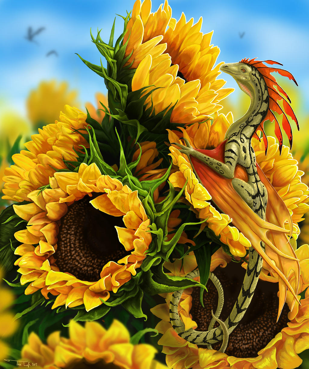 Sunflowers by jaxxblackfox
