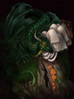 Little Green Dragon by jaxxblackfox
