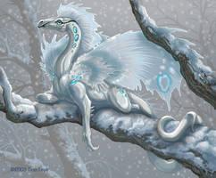 Little Snow Dragon. by jaxxblackfox