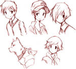 Persona 3 Guy Sketches