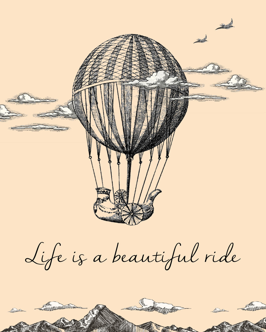 Life Quote Poster Life Is A Beautiful Ride Quote Posterlisawheels89 On Deviantart