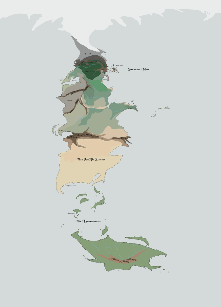 Weltkarte 2 - Wip 5 by SythraNightshade