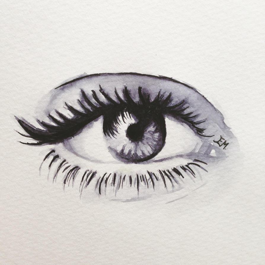 Watercolor Eye by TheHopelessDreamer