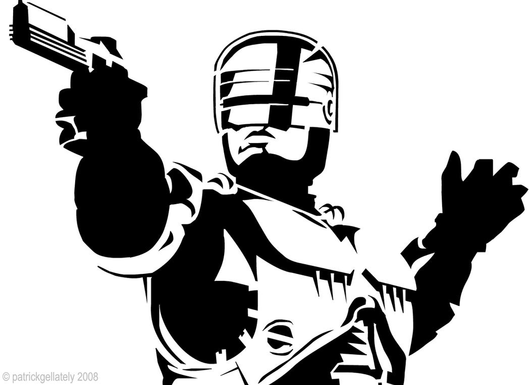 Robocop Stencil by funksoulfather