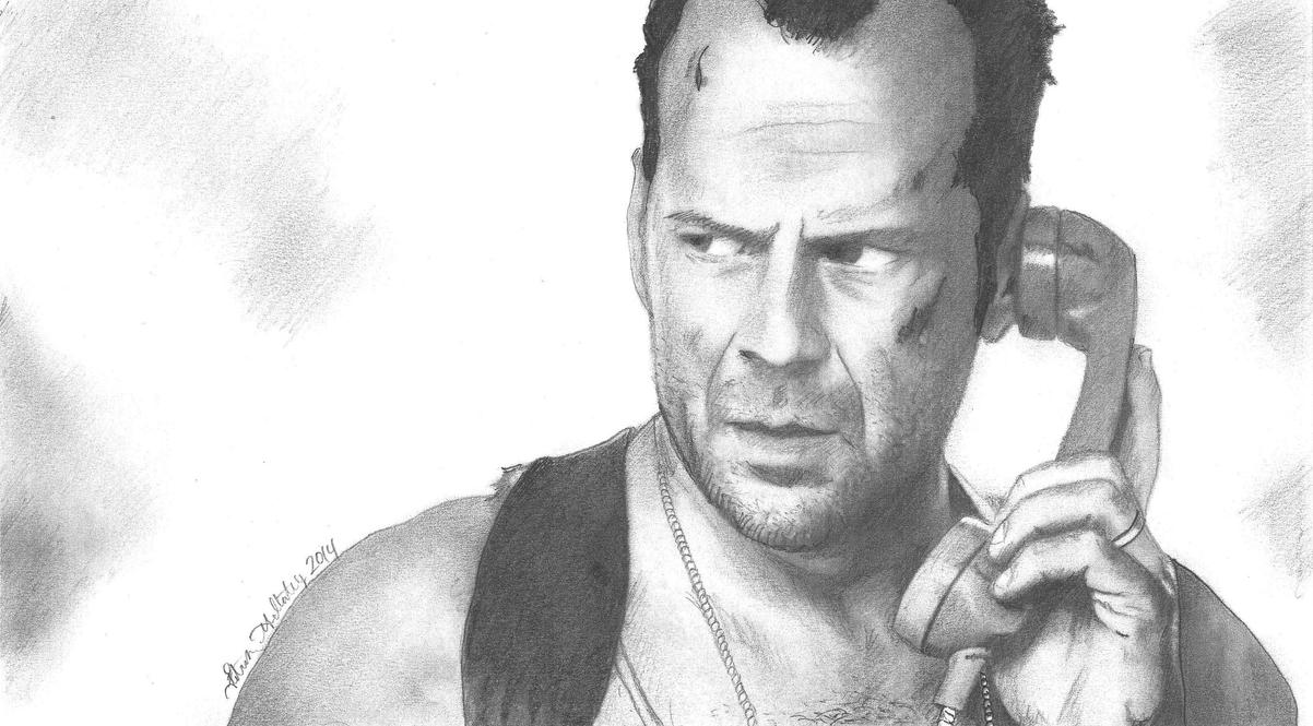 261d9fd7e6107 Bruce Willis As John Mcclane Sketch By Funksoulfather On