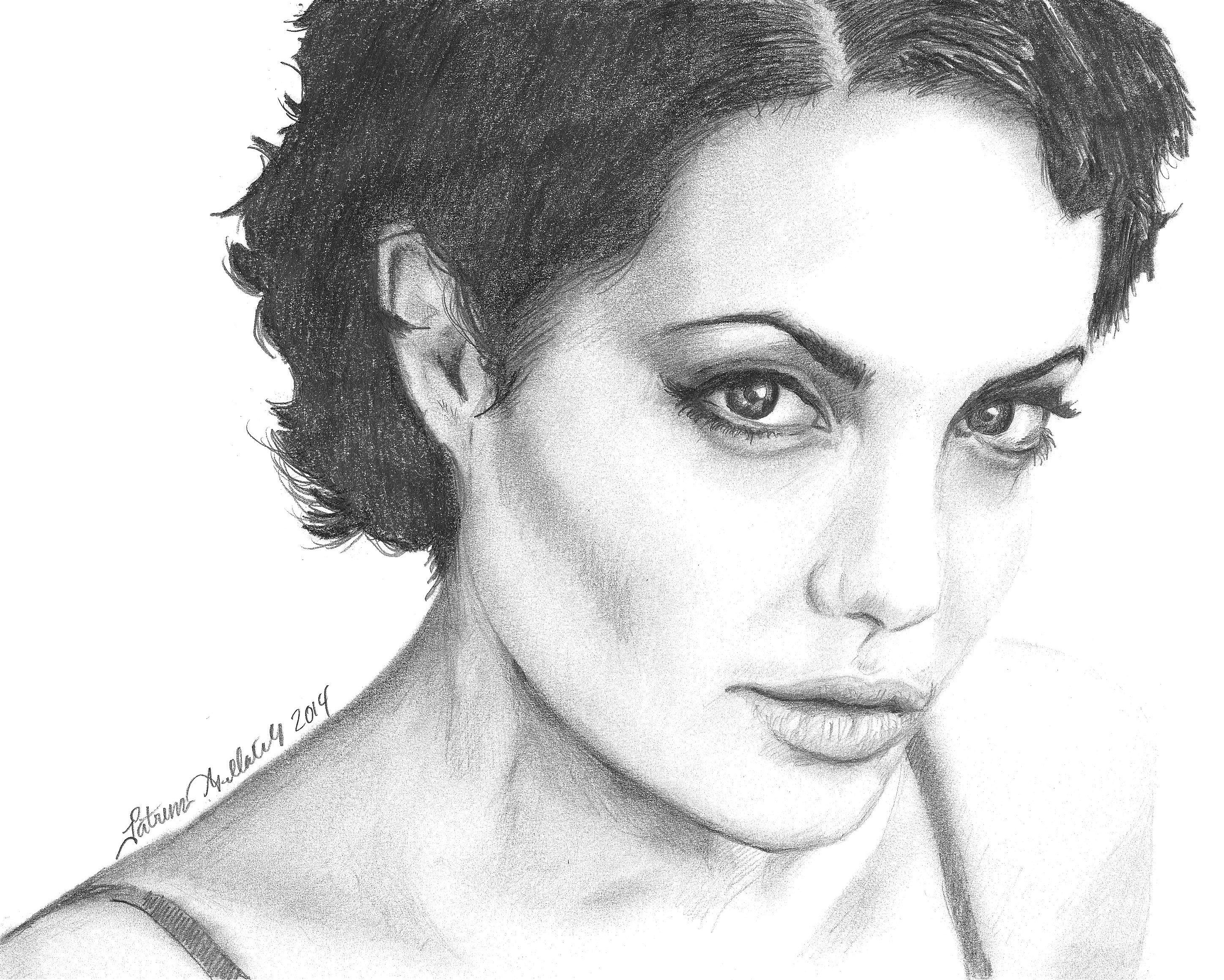 Angelina Jolie Sketch By Funksoulfather Angelina Jolie Sketch By  Funksoulfather