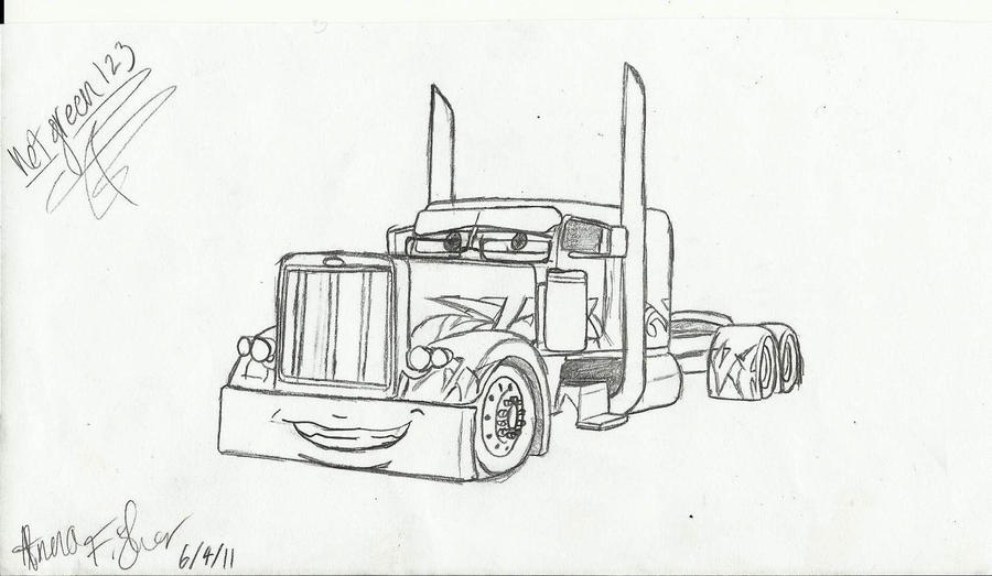 Kenworth Coloring Pages Peterbilt Coloring Pages