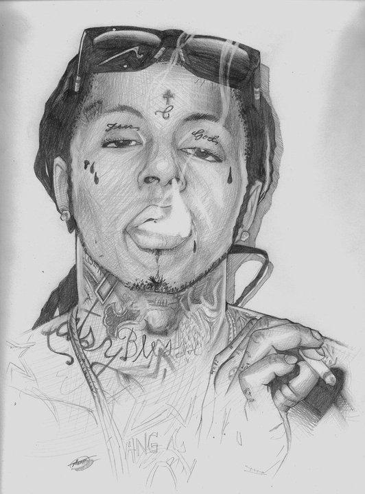 Pencil Drawings Of Lil Wayne Lil wayne drawing by b...