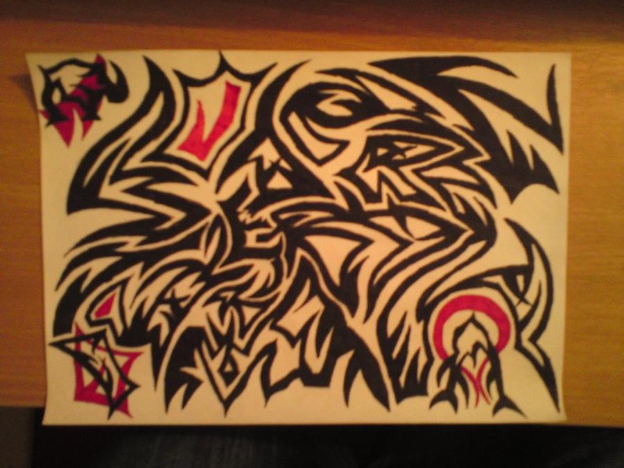 Tribal art hidden name by aje3150 on deviantart for Tattoo shop name generator