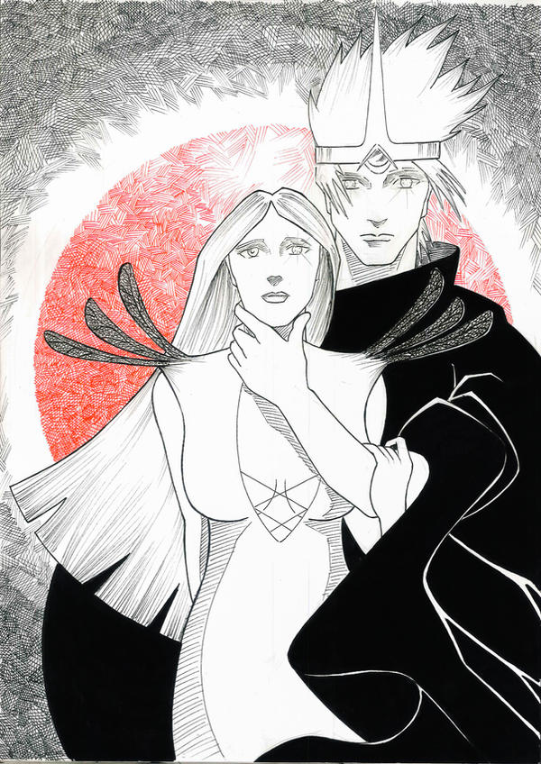Midhir and Etain by peterfrancisfahy