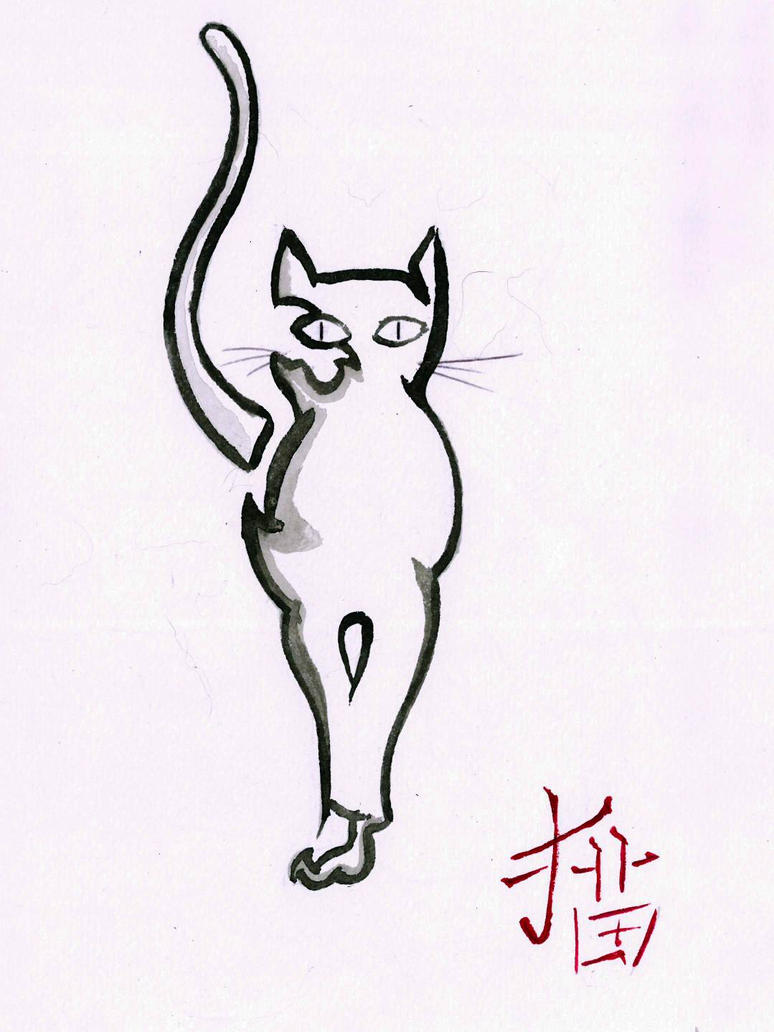 Cat sketch  by peterfrancisfahy