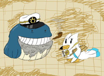 the Cartographer and the Sea Captain by Thanzo