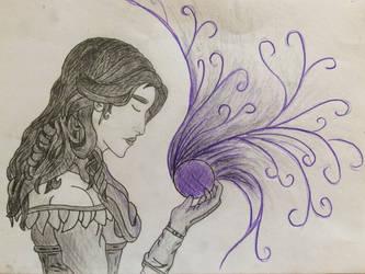 Yennefer's Essence Sketch by Eileniessa