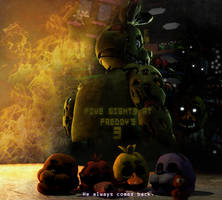 Five Nights at Freddy's 3 3rd Anniversary. by Fer-Ge