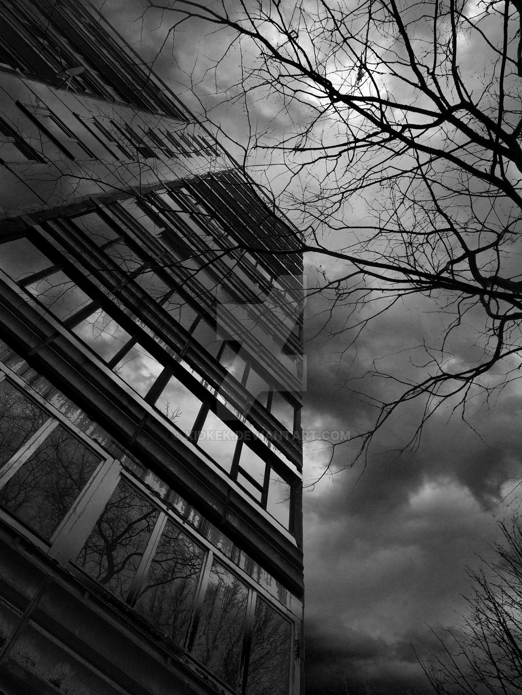 Black Soviet building by KidKek
