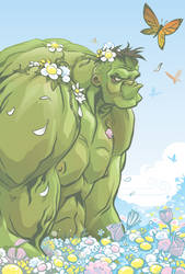 Hulk in Spring by abnormalbrain