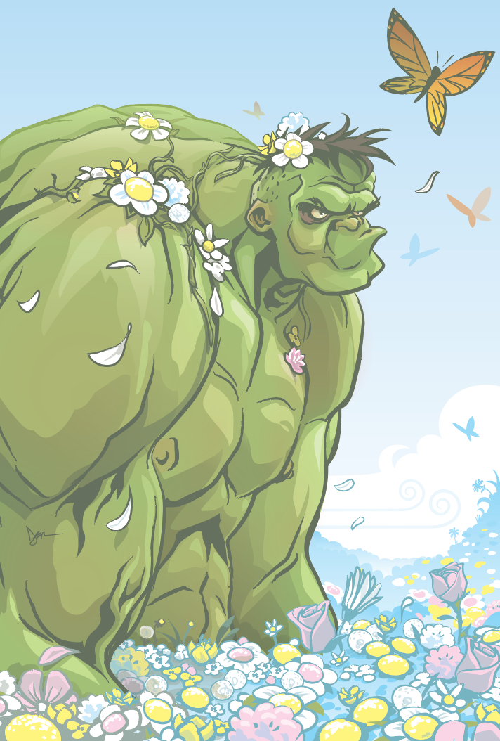 Hulk in Spring by abnormalbrain