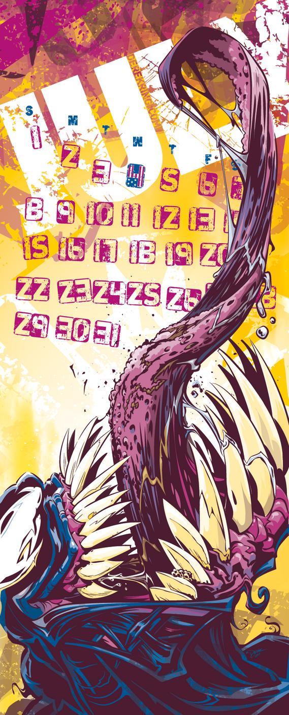 Venom Calendar Page by abnormalbrain