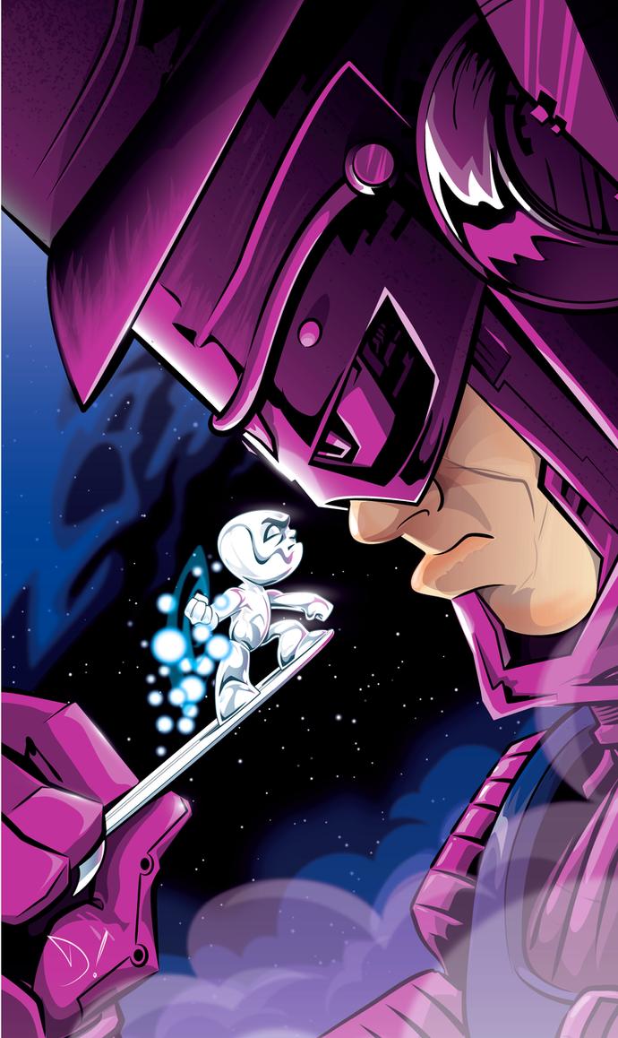 Surfer vs. Galactus by abnormalbrain