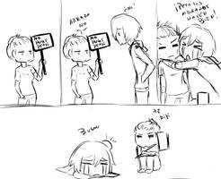 no hugs please