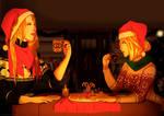 [Commission] Christmas dinner!