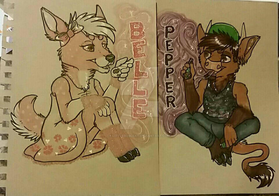Tonal Badges:: Pepper and Belle by ThatOneDumbDeer