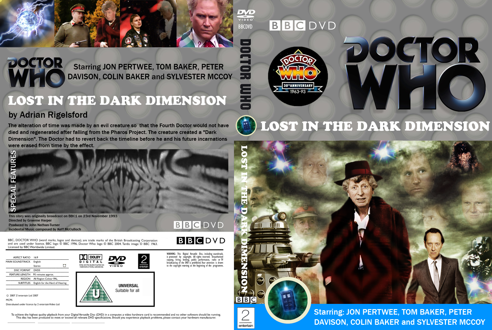 Doctor Who Lost In The Dark Dimension Dvd Cover By