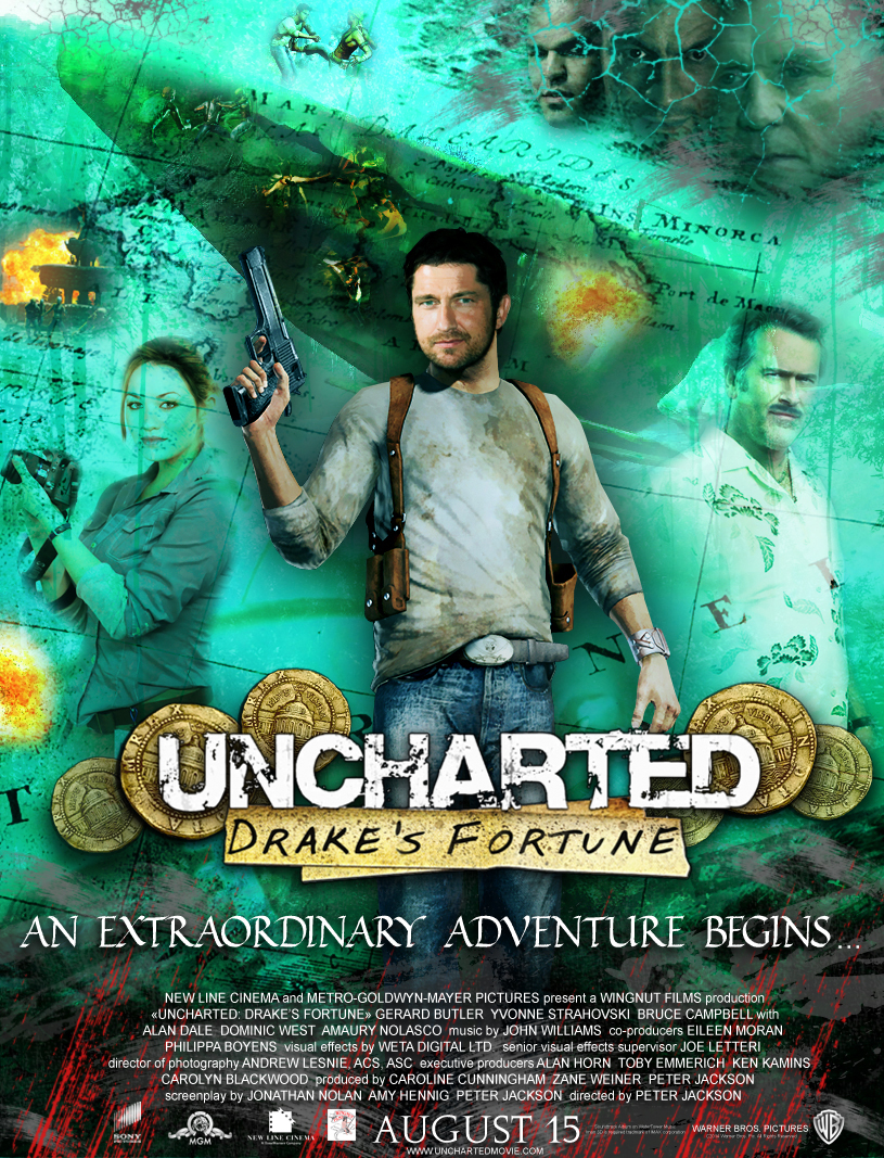 Uncharted Drake S Fortune The Movie Poster 1 By Doctor Woo On
