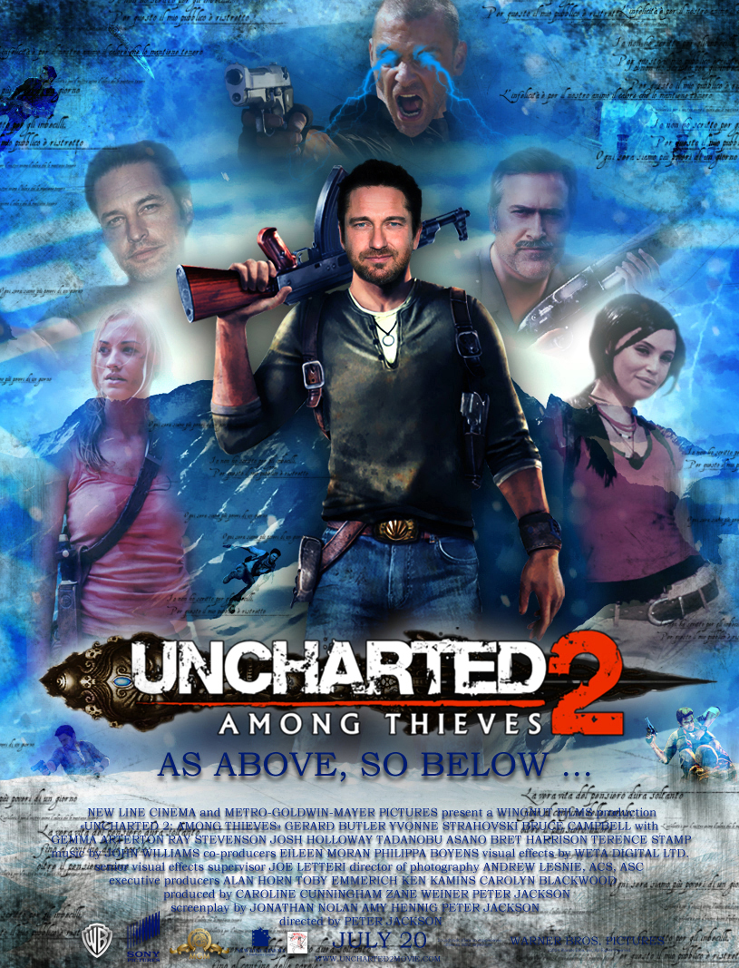 Uncharted 2 Among Thieves The Movie Poster 1 By Doctor Woo On
