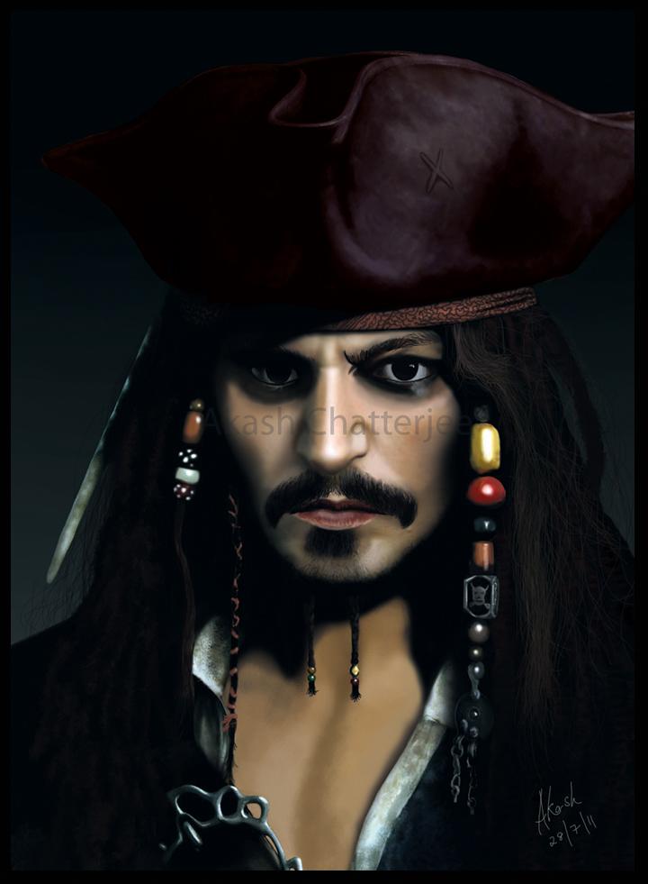 Captain jack sparrow by cakash