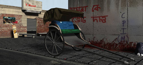 hand pulled rickshaw by cakash