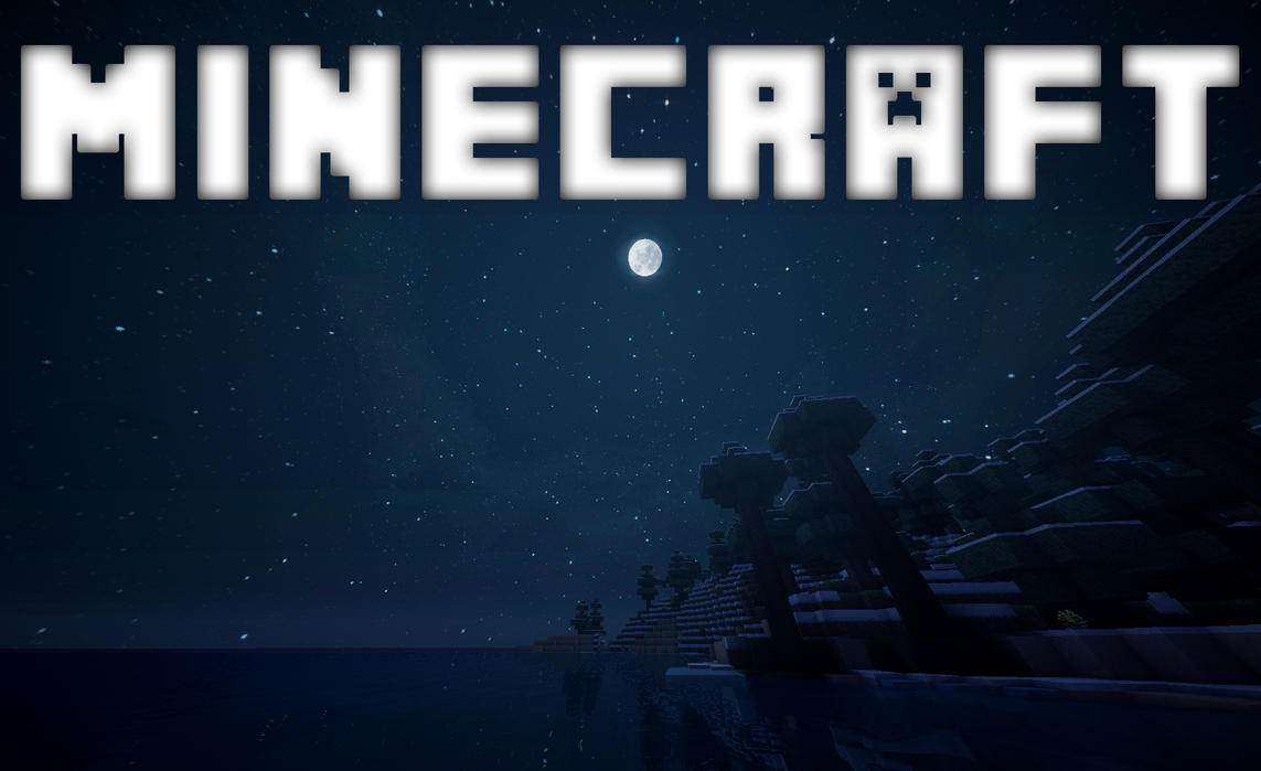 Download Wallpaper Minecraft Blue - minecraft_background__taiga_1_by_calmchill13-d6ah3nh  Collection_97214.jpg